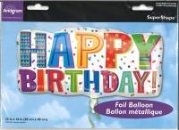 Folienballon Happy Birthday 83cm x 40cm