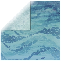 Scrapbooking Papier Deep Sea -  Deep Blue