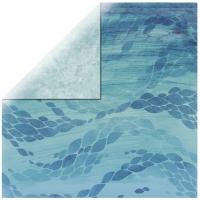 Scrapbooking Papier Deep Sea -  Deep Blue