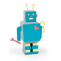 Sizzix Thinlits Die Set 8PK - 3-D Robot