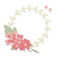 Sizzix Thinlits Die Set 9PK - Floral Wreath
