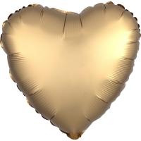 Folienherz uni satin luxe - gold