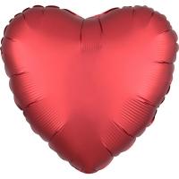 Folienherz uni satin luxe - Satin Sangria Heart