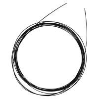Nylon coated Schmuckdraht, 0,4mm ø schwarz