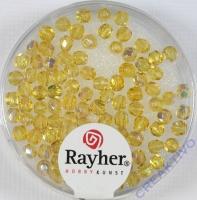 Glas-Schliffperlen, 3 mm ø irisierend topas