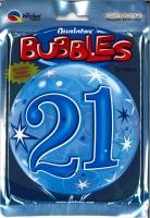 Bubbleballon 21 blau
