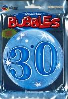Bubbleballon 30 blau