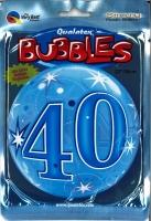 Bubbleballon 40 blau