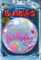 Bubbleballon Happy Birthday pink