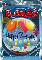 Bubbleballon Happy Birthday - Kerzen & Ballons