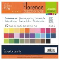 Florence • Cardstock texture 30,5x30,5cm 60 Blatt sortiert