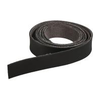 Kunstlederband flach 2cm schwarz