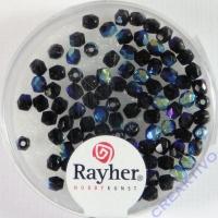 Glas-Schliffperlen, 3 mm ø irisierend onyx