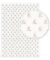 Silhouetten-Karton Segelboote weiß gelasert