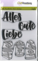 Clearstamps Alles Gute / Alles Liebe
