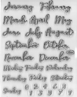 Silikon-Stempel Bujo / Kalender Monate