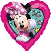 Folienballon Minnie Maus - Happy Birthday