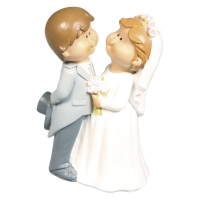 Polyresin Brautpaar Lovely Wedding 11x7,5x5,5cm