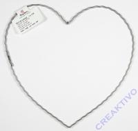 Herz 15cm aus gewelltem Flachdraht 25cm
