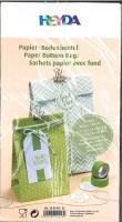 Papier-Bodenbeutel grün
