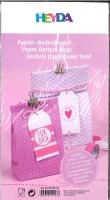 Papier-Bodenbeutel rosa