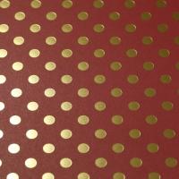 Scrapbookingpapier Gold Foil Dots - ziegelrot