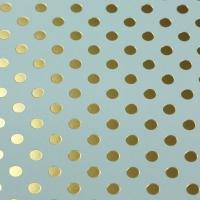 Scrapbookingpapier Gold Foil Dots - mintgrün
