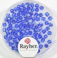 Glas-Schliffperlen, 3 mm ø irisierend saphir