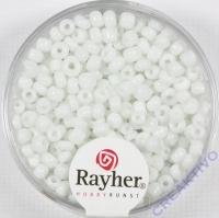 Rocailles 2,6mm ø opak weiß