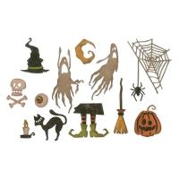 Sizzix Thinlits Die Set 17PK - Frightful Things