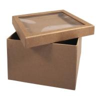 Pappmaché-Box mit Schütteldeckel 15,5x15,5x11,5cm