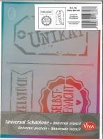 Universal-Schablone Einzelstück