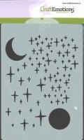 Schablone Sterne und Mond