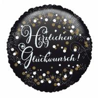 Folienballon Herzlichen Glückwunsch Sparkling Birthday