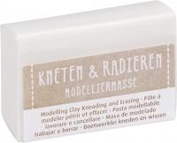 Modelliermasse Kneten & Radieren weiß