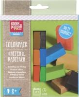 Colorpack Kneten & Radieren gelb, rot, blau, grün, braun, schwarz