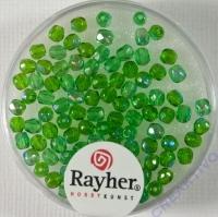 Glas-Schliffperlen, 3 mm ø irisierend smaragd