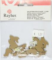 Holz-Streuteile Hasen 10 Stück (Restbestand)