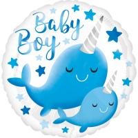 Folienballon Wal Baby Boy
