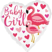 Folienballon Flamingo Baby Girl