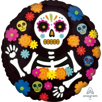 Day of the Dead Skeleton Foil Balloon