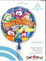 Folienballon Happy Birthday - Eulen