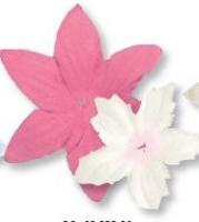 Heyda Deko Blumen ca. 80 Stück pink/weiß