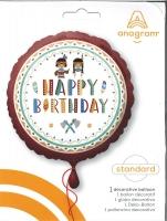 Folienballon Happy Birthday - Indianer