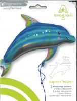 Folienballon Delfin holografisch