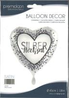 Folienballon Silberhochzeit