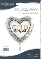 Folienballon Goldhochzeit