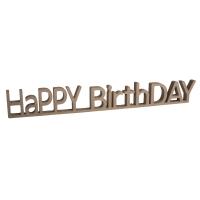 MDF Wort HaPPY BirthDAY