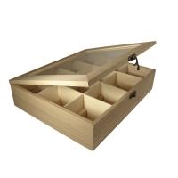 Holz-Teebox 12 Fächer