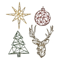Sizzix Thinlits Die Set 4PK - Geo Christmas